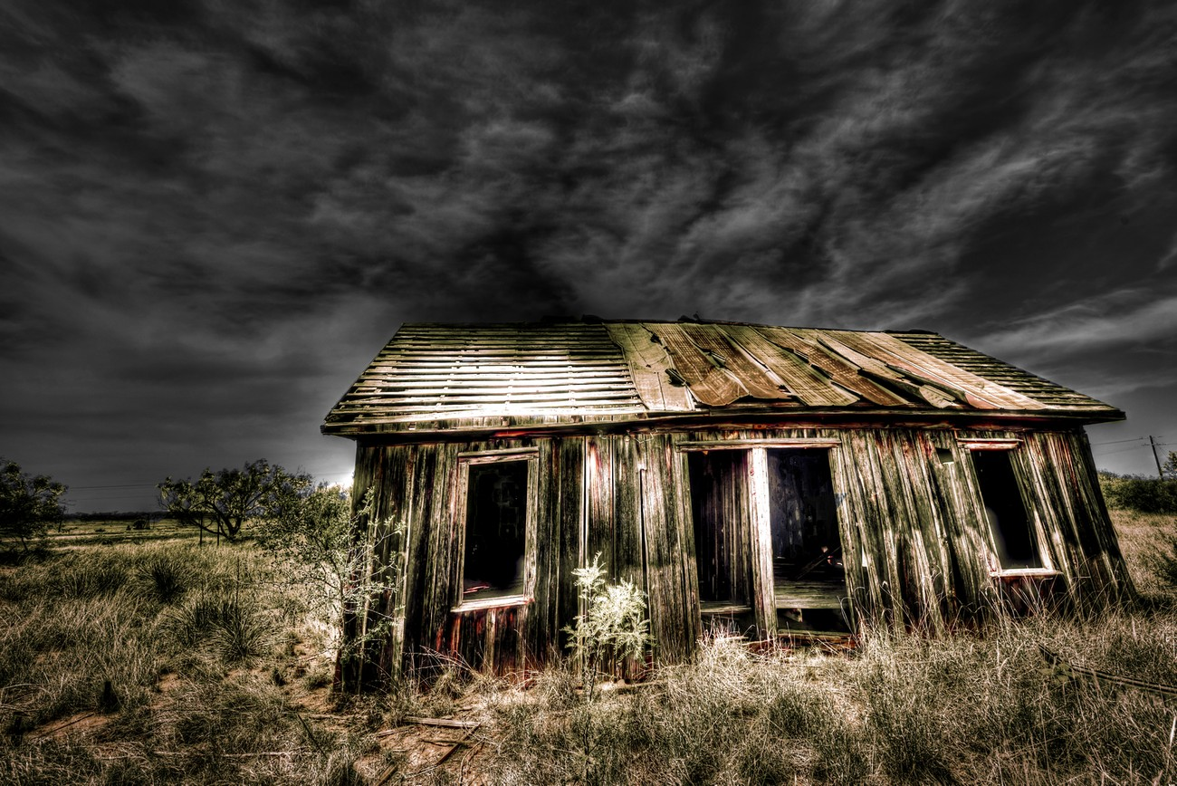 An old abandoned farm house in west Texas.