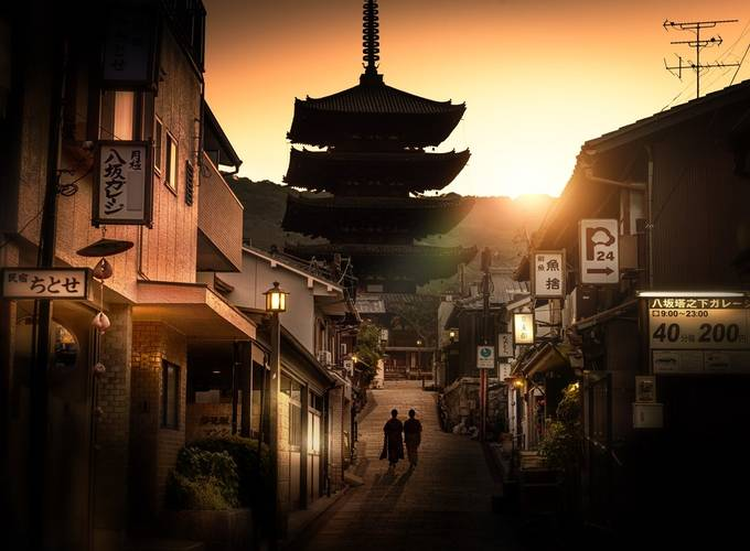 Dawn In Old Kyoto by NickMoulds - The Magic Of Japan Photo Contest