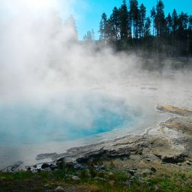 This is one of many hot springs in Yellowstone. The colors of this hot spring were amazing.