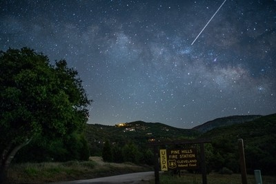 Milky Way from the San Diego Mountians