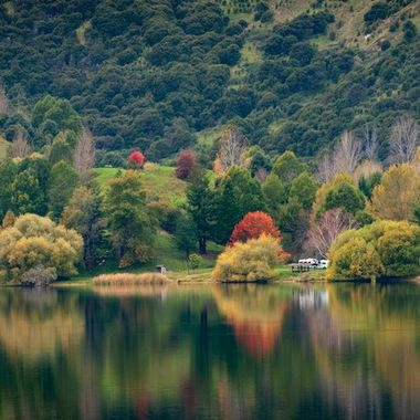 Here in the Southern Hemisphere we are just through with Autumn. This is another lake not far from our home.