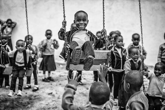 Smile by vedranvidak_1401 - Our World In Black And White Photo Contest