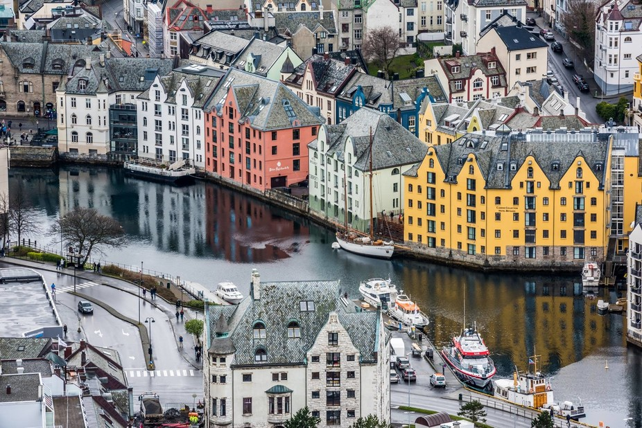 Colourful Alesund, Norway