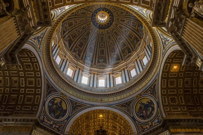 Rome - ST Peter's Dome by Dflorenzi - Ceilings Photo Contest