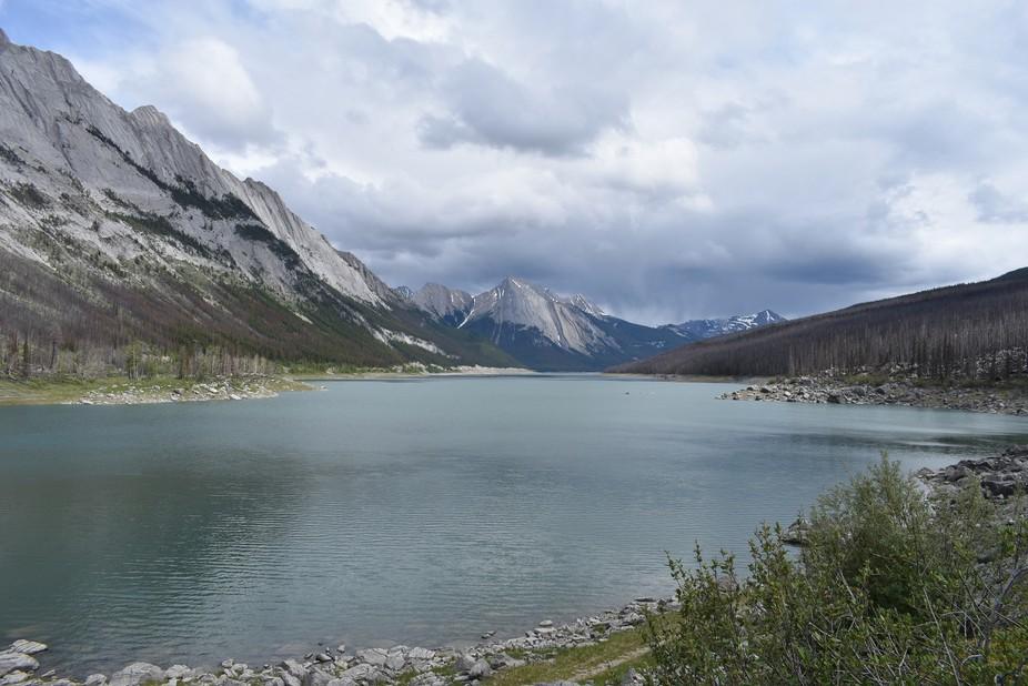 About a 40 minute drive from Jasper, Alberta.