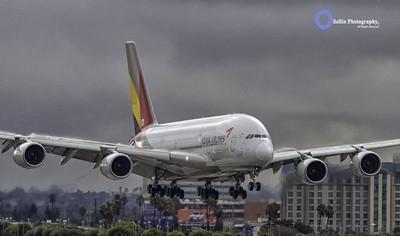 """Asiana A380 on Final"""