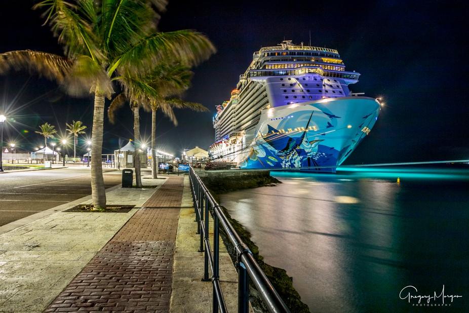 NCL Ecape Bermuda night