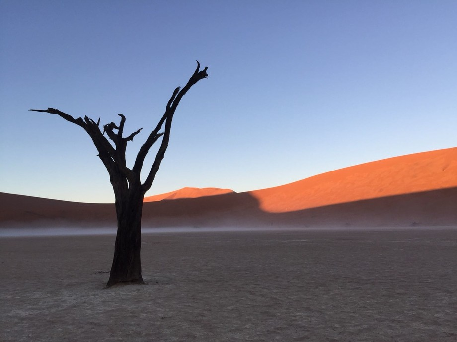 Alone with girlfrend and to others in Namibië , deadvlei . Great moment !