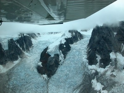 GLACIER UNDER THE WINGS