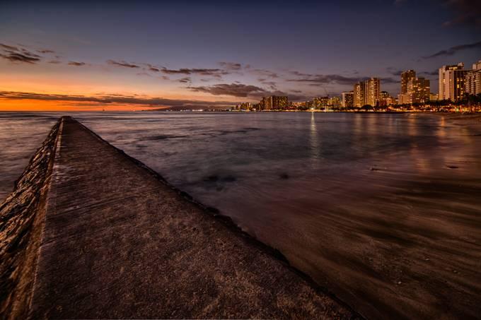 Waikiki Afterglow by smijh - Sunset And The City Photo Contest