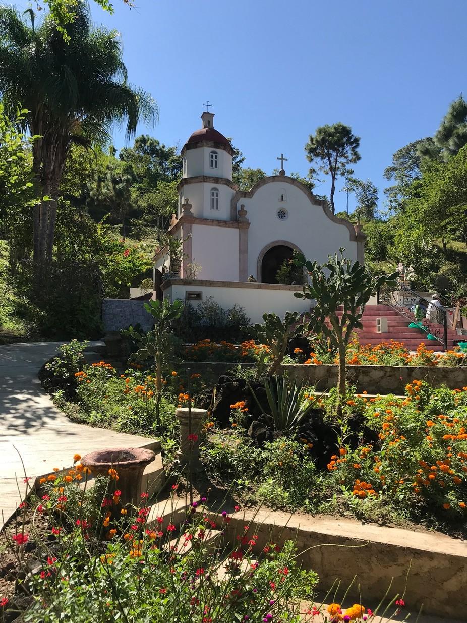 Hillside church in Mexico