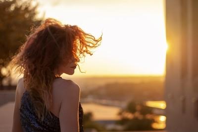 Sunset wild redhead