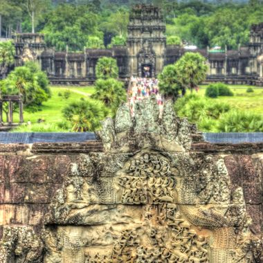 Temples or Angkor Wat in Cambodia.