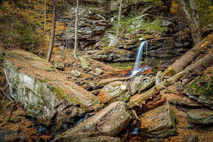 Falling Water & Rocks by RDVPhotography - Boulders And Rocks Photo Contest