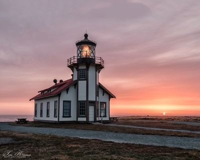 Sunset At Point Cabrillo Lighthouse . . .