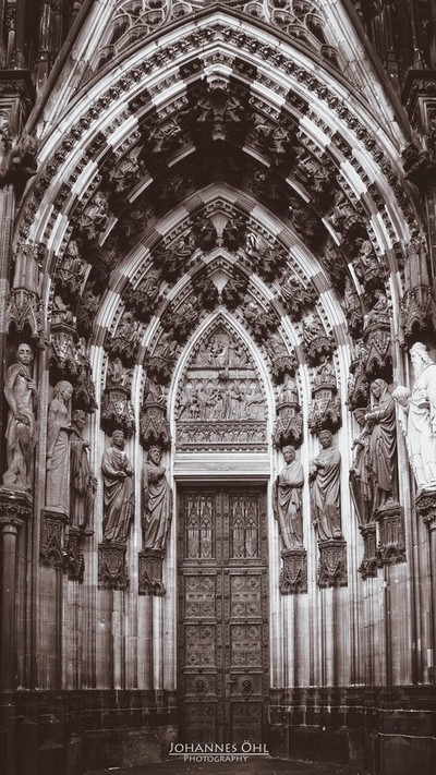 Magi portal of the west facade at Cologne Cathedral