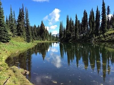 Lake on Mount Revelstoke, British Columbia, Canada