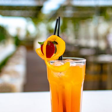 a cool refreshing sex on the beach cocktail