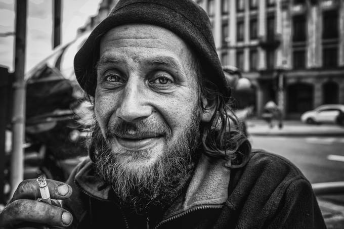 homeless in Luxembourg, street life