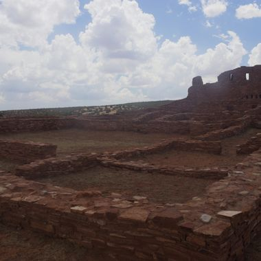 The ruins of San Gegorio de Abó, which is part of the Salinas Missions National Historic Site, near Abó, New Mexico.