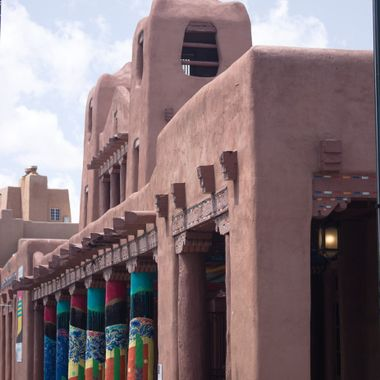 One of the markets in old Santa Fe, New Mexico.