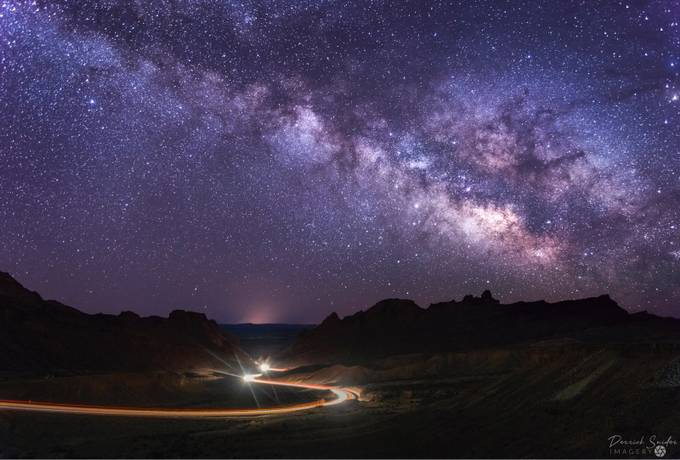 Night Drive by derricksniderimagery - Capture The Milky Way Photo Contest