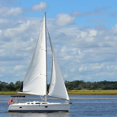Sailing on the river at St. Augustine, Florida