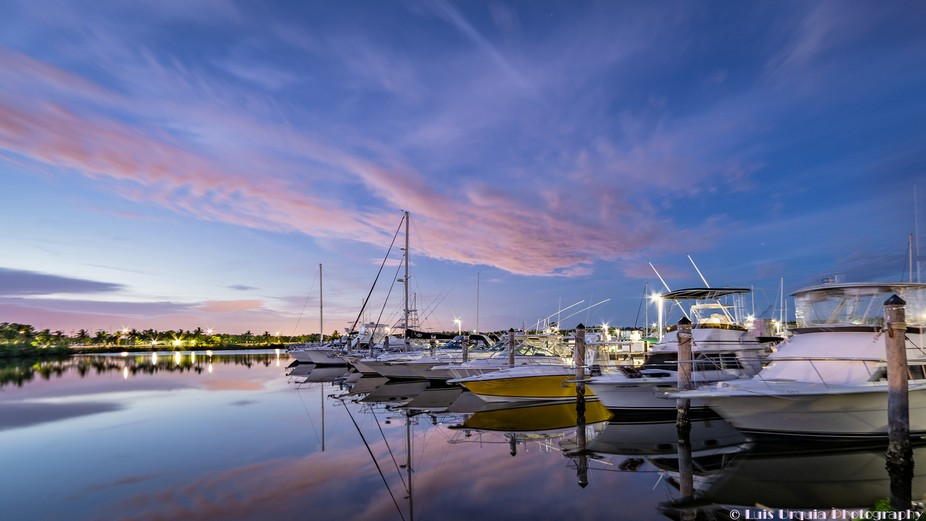 Playing with my Sony A73 and my 14 Mil f2.8 Rokinon lens at the local Marina here in South Florida.