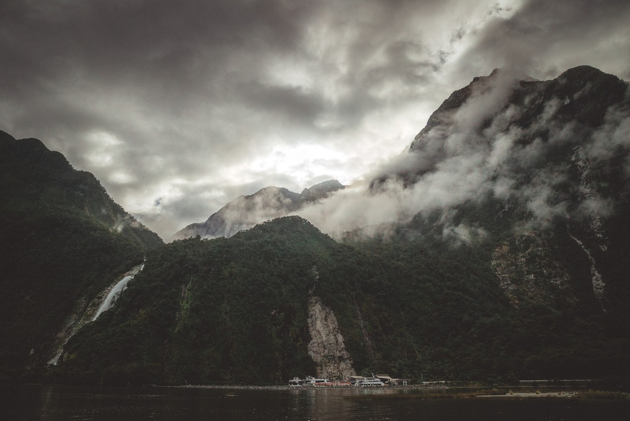 The mood in Milford sound changes all the time but the wilderness is still part of it.