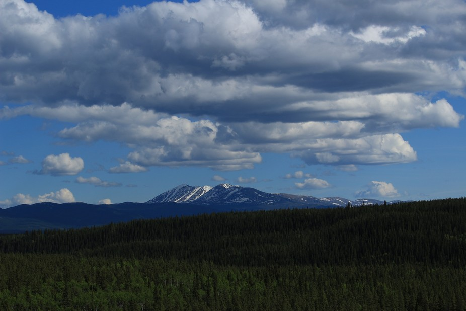 Clouds above the Mountains in Whitehorse