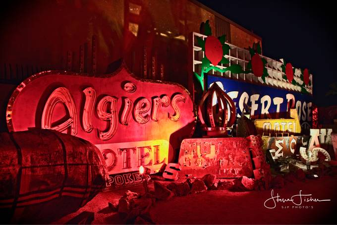 Views of the Neon BoneYard , Las Vegas Nevada