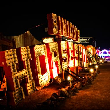 Views of the Neon BoneYard , Las Vegas Nevada