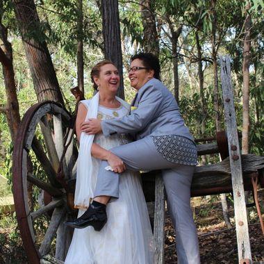 Funny wedding shot