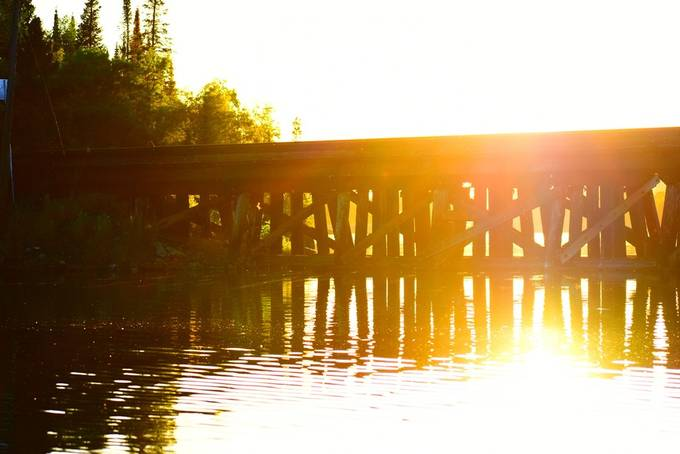 Loved how this end of the bridge lit up a sunset Nikon D34005 70-300 lens