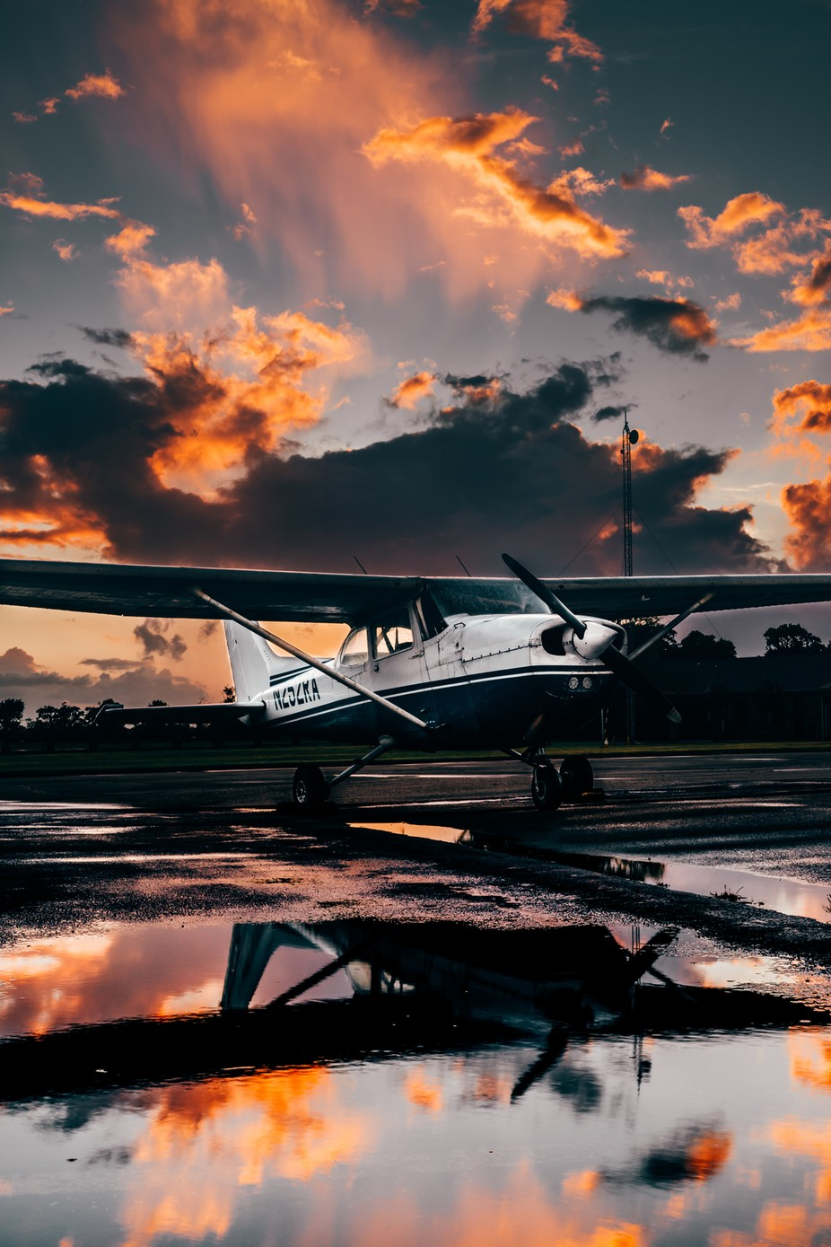 Cessna 1977 172N after a downpour during sunset by prestonbarnett - Aircraft Photo Contest