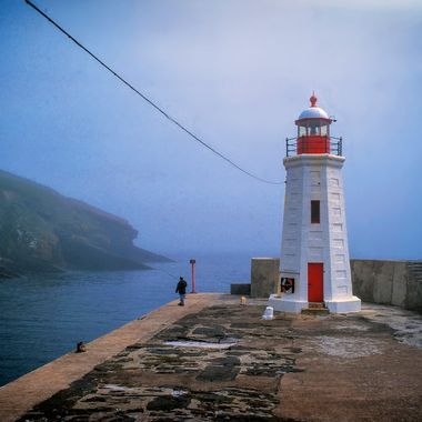 shared this wonderful foggy harbour 25 years ago with a lone fisherman and my pentax 67