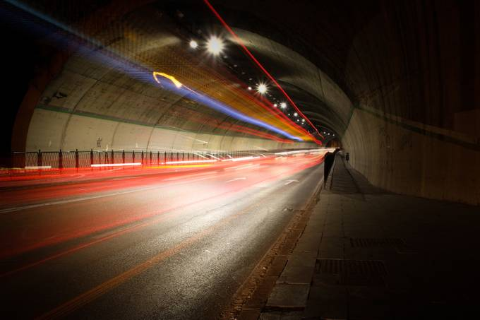 Light trail by alekseisolovjov - Shooting Tunnels Photo Contest