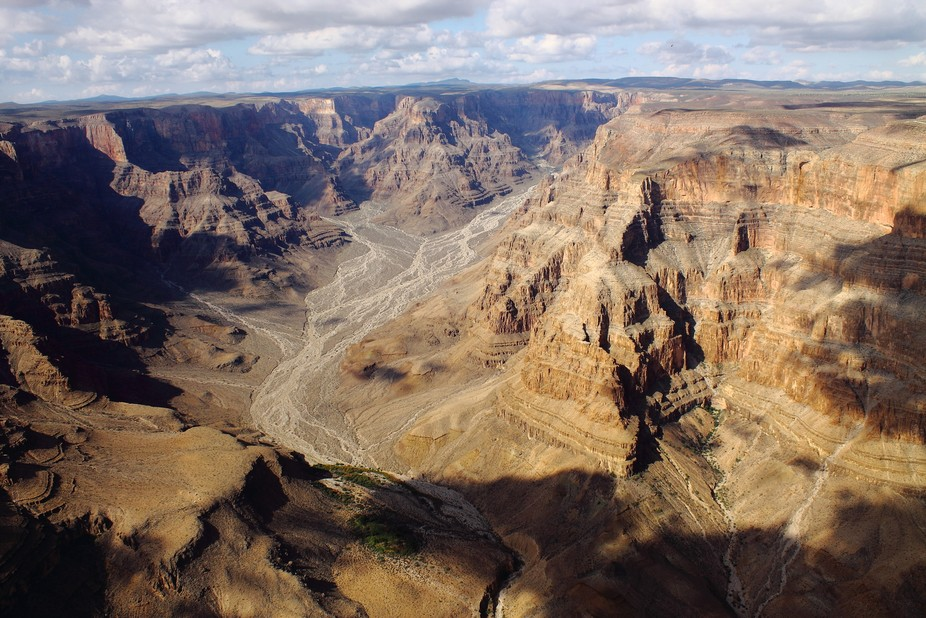 A fly over grand canyon