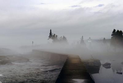 Foggy morning in Grand Maris