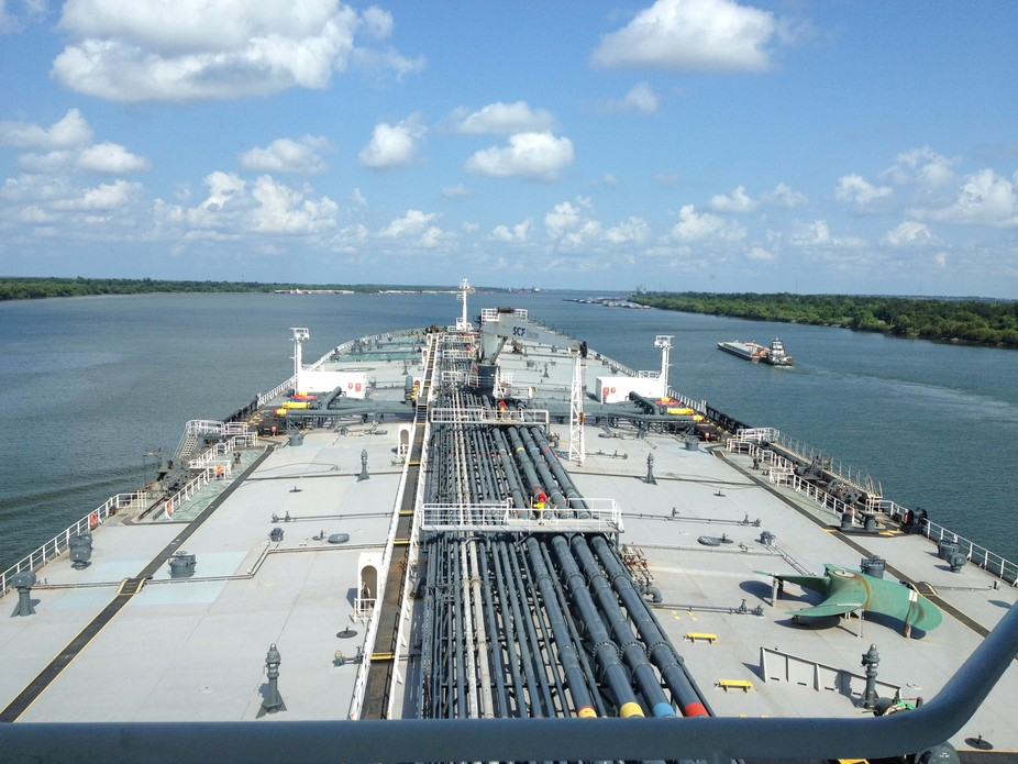 Piloting a tanker down the Mississippi River