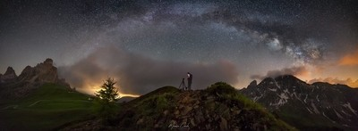 Passo Giau under the Milky Way