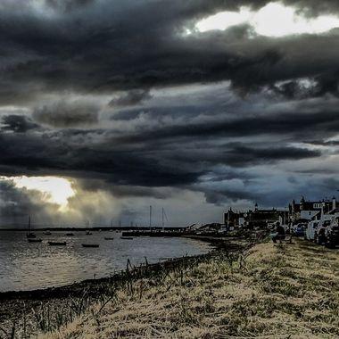 Grumpy skies at Findhorn .......... :-)