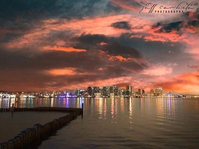 The days that break you are the days that make you! . . Just a gorgeous sunset over downtown San Diego!