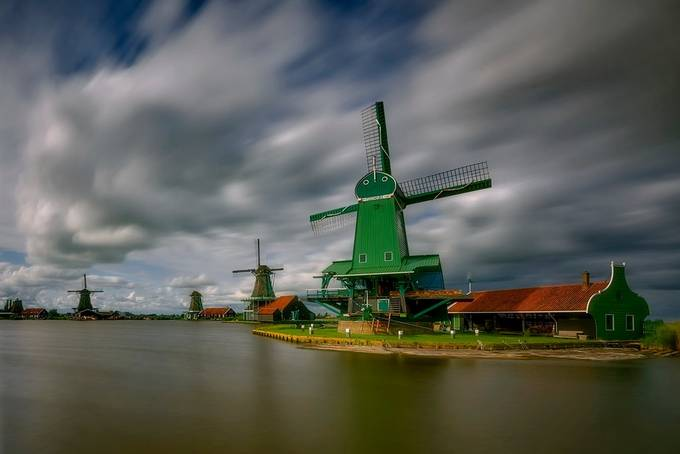 Windmills by jansieminski - The Moving Clouds Photo Contest