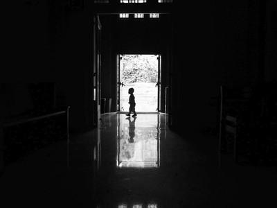 Little Boy in a Church