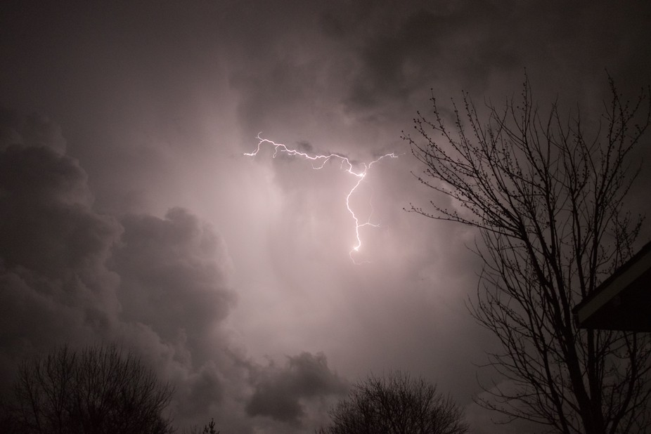 After losing all the power at my house i set up my tripod and shot this storm. My first time shoo...