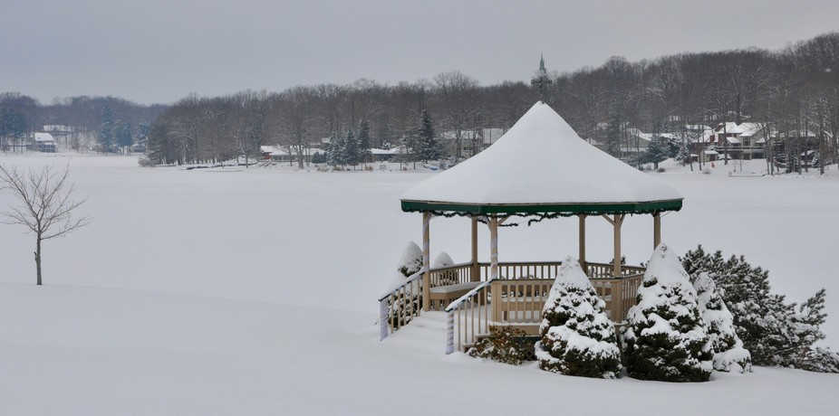Gazebo in Winter