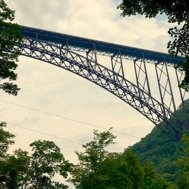 This photo was taken in WVA at the Overlook Bridge. It's a popular spot for bungee jumpers and people to sky dive from.