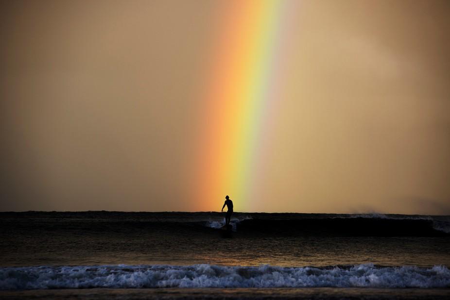 Surfing at last light