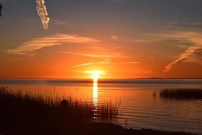 Sunset Over Lake Albert, Meningie South Australia